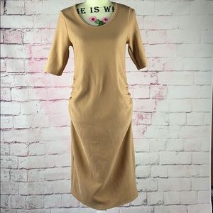 BLUEBELLE Tan Bodycon Maternity Dress